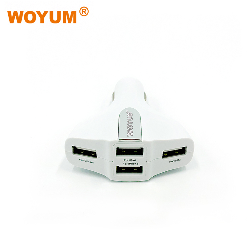 Woyum -Car Mobile Charger Price 4-port Usb Car Charger For Apple Android Devices