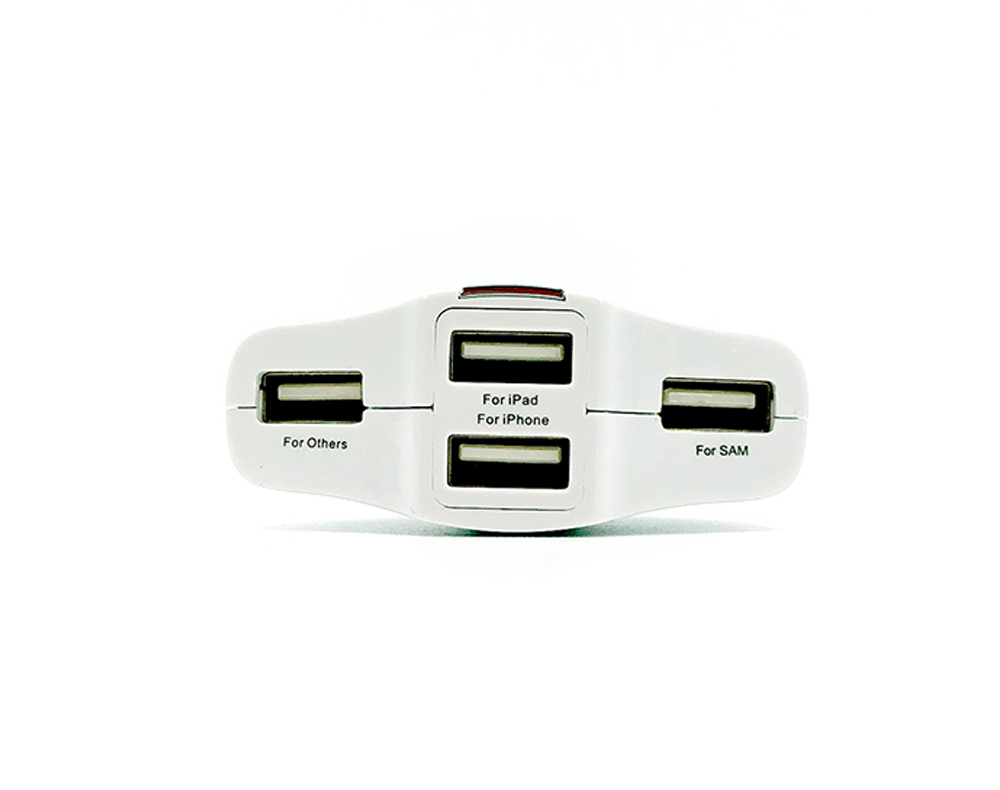 Woyum -Car Mobile Charger Price 4-port Usb Car Charger For Apple Android Devices-3