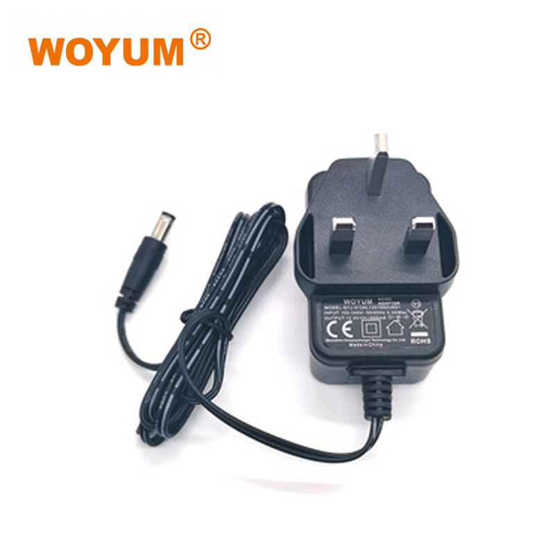 WOYUM DC 12V 1A Power Supply Adapter, AC 100-240V to DC 12Volt Transformers, Switching Power Source Adaptor for 12V electronic devices and power tools, 12W Max, UK Plug