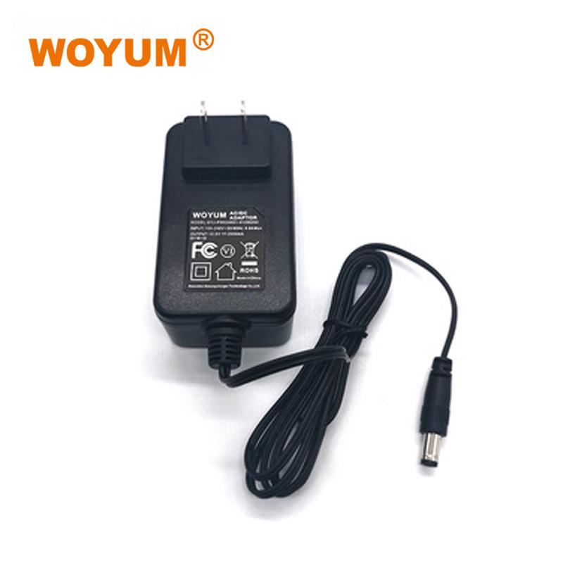 Woyum -WOYUM DC 12V 2A Power Supply Adapter, AC 100-240V to DC 12Volt Transformers, Switching Power