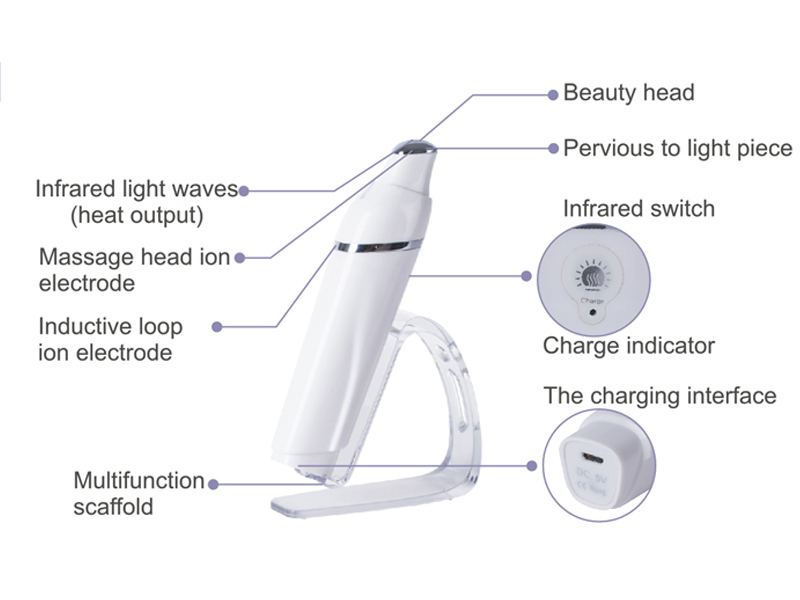 Woyum -Electric Face Brush Multi-function Heated Sonic Eye Massager-4