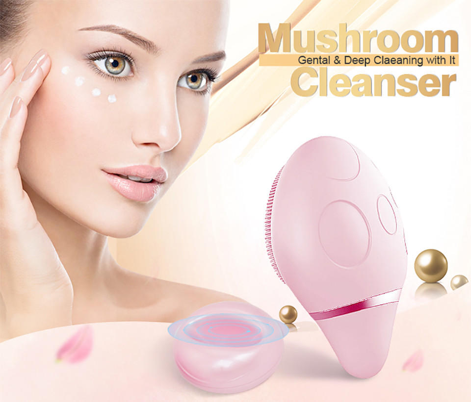 Woyum -Find Facial Device Wireless Massage Cleansing Brush,electric Silicone Facial Cleanser