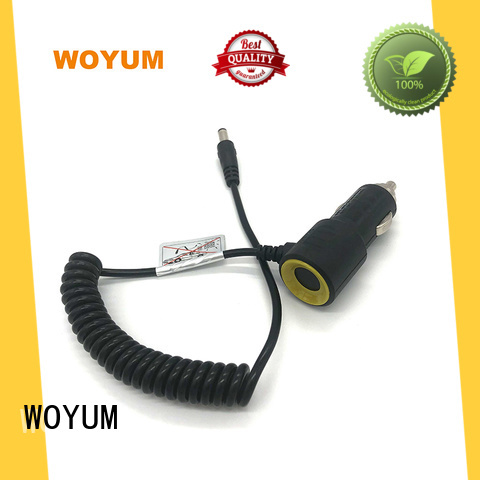 Woyum electrical multi port usb car charger supplier for Apple Devices