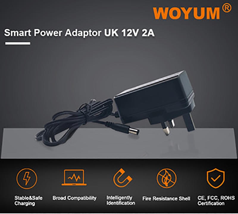 Woyum -Woyum Dc 12v 2a Power Supply Adapter, Ac 100-240v To Dc 12volt Transformers