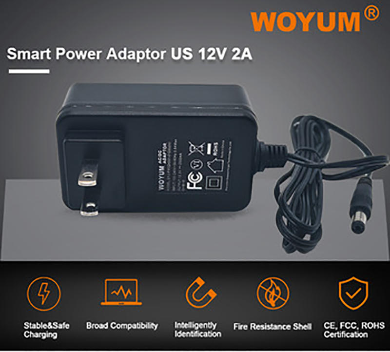 Woyum -Power Adaptor Woyum Dc 12v 2a Power Supply Adapter, Ac 100-240v To Dc