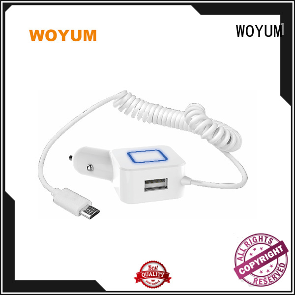 Woyum multi port usb car charger supplier for Apple Devices