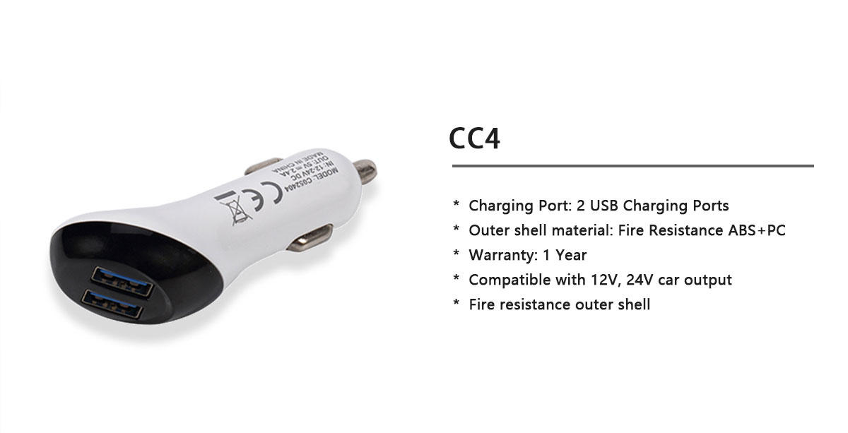 Woyum -Professional Mini Usb Car Charger Dual Port Car Charger Manufacture