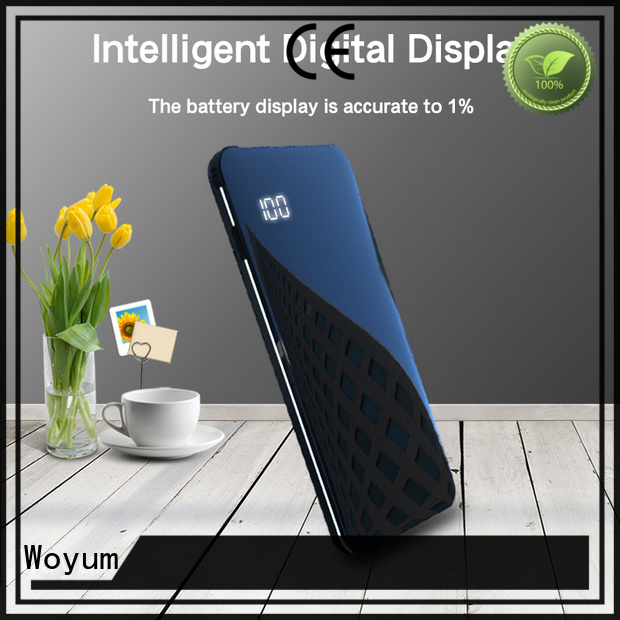 Woyum power bank 10000mah with pen container for phone