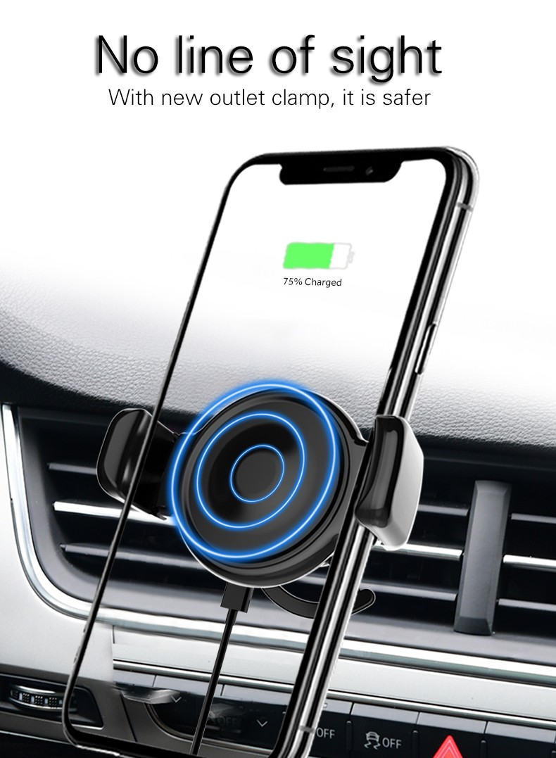 Woyum -Car Charger Wireless Cell Phone Car Charger Air Vent Phone Holder-13