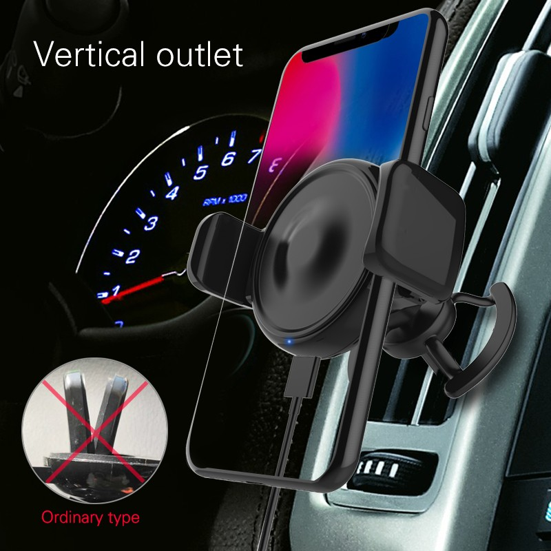 Woyum -Car Charger Wireless Cell Phone Car Charger Air Vent Phone Holder-20