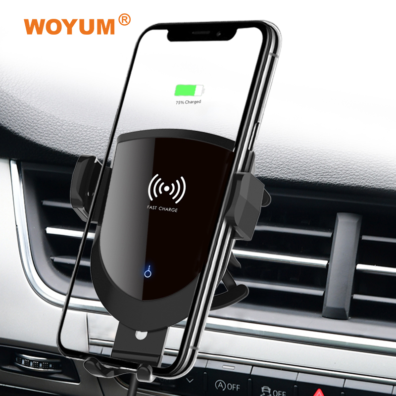 Type-C Wireless Cell Phone Car Charger Air Vent Phone Holder/Cradle Compatible with iPhone X, XS, XS Max, 8, 8 Plus, Samsung Galaxy Note 9, S9, S9 All Qi Enabled Devices Perfect Driving/Travel Accessory,Wireless Car Loading Brachet