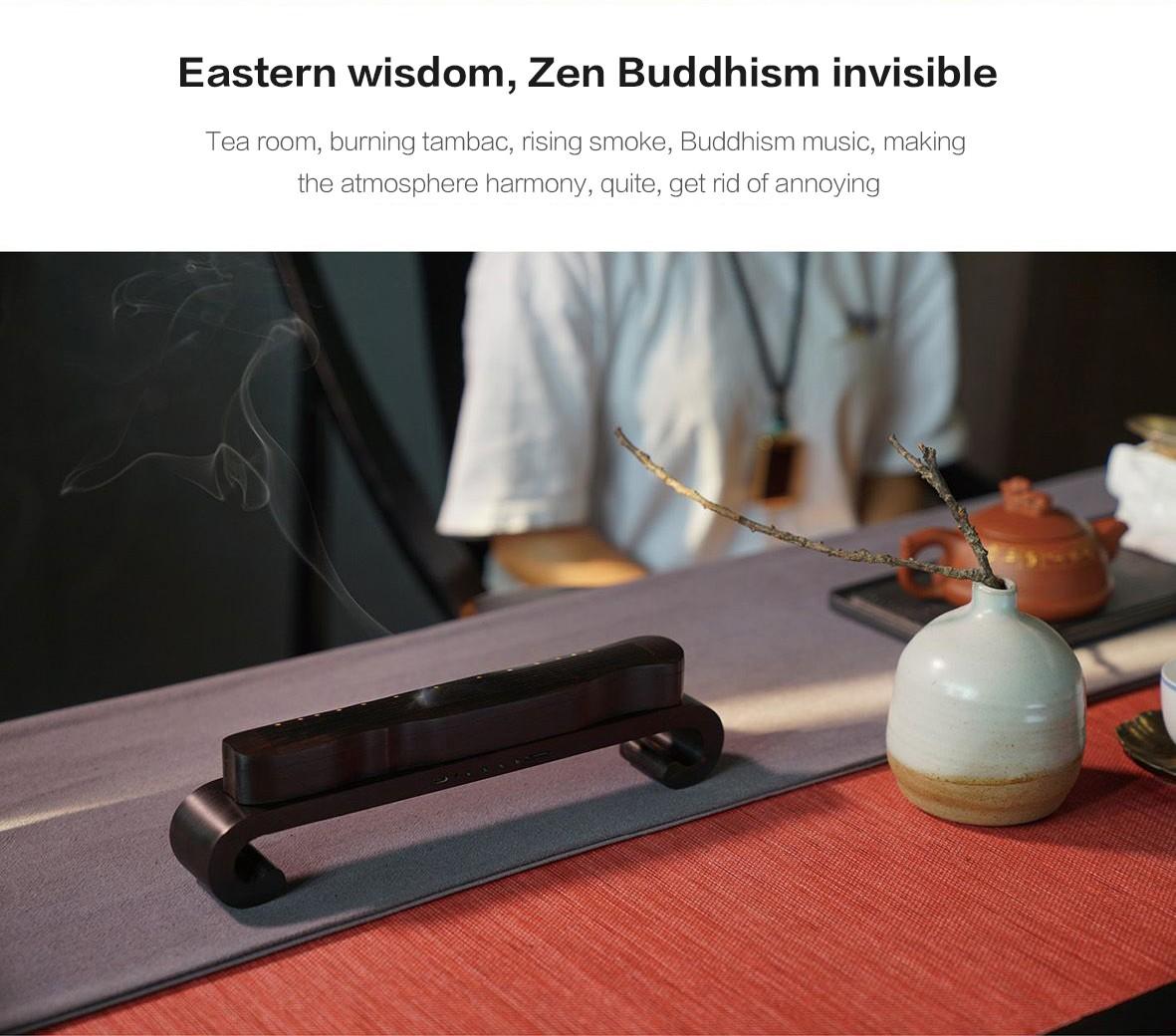 Woyum -Incense Burner with Buddhismzither Buddha Machine buddha censer-2