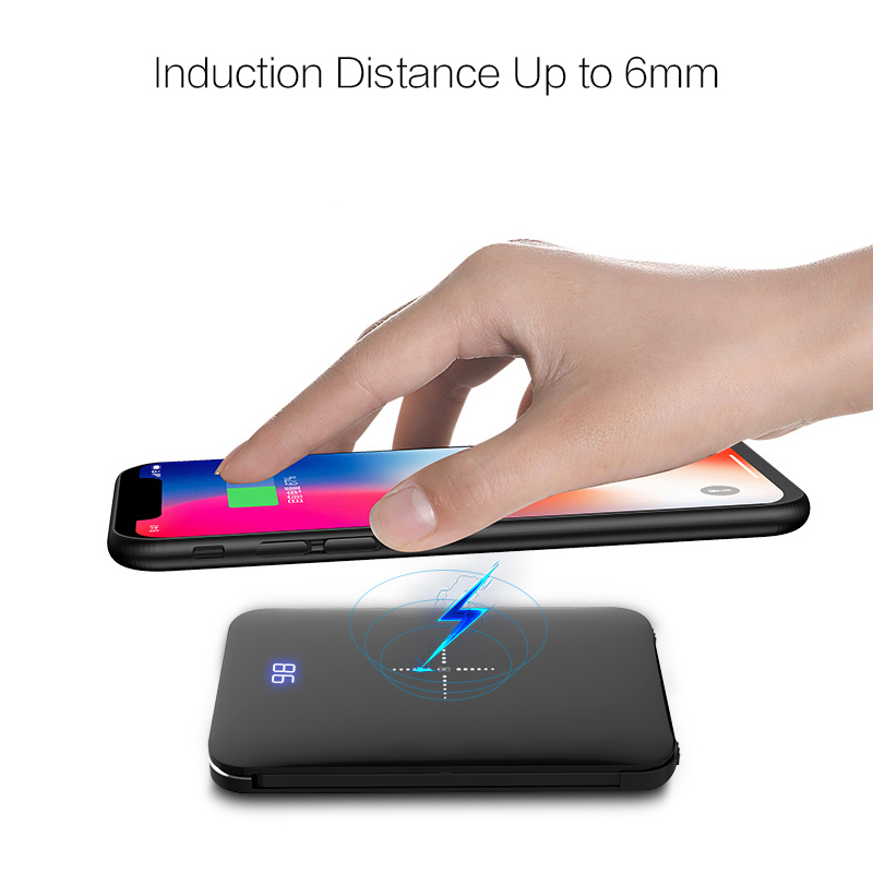 WOYUM Wireless Charger Power Bank,8000mAh External Battery Charger Pack Portable Charger Battery Pack Portable Charger for Android Phone,iPhone Xs,iPhone XR,iPhone X,iPhone 8, Galaxy S8 S9 S7 Note 8/9