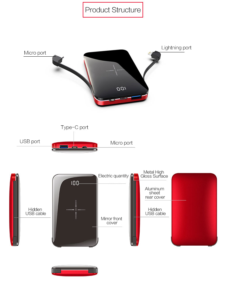 Woyum Custom portable wireless charger manufacturers for Android-11