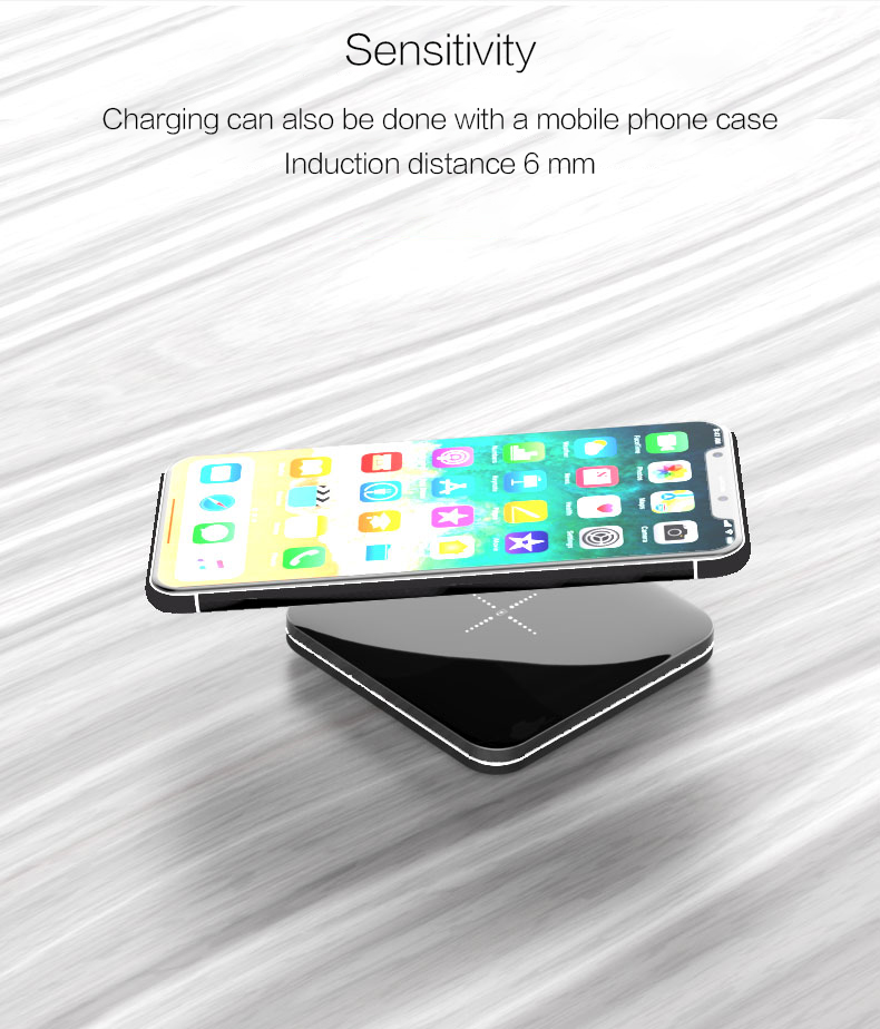 Woyum bamboo wireless charger with pen container for iPhone-9