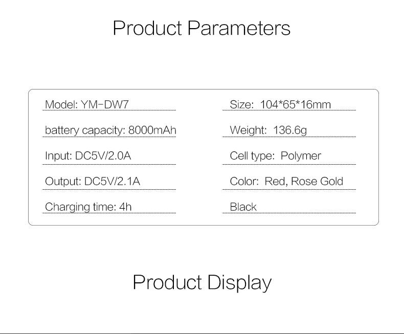 Woyum -Woyum Wireless Portable Charger,7300mah Wireless Charger-11