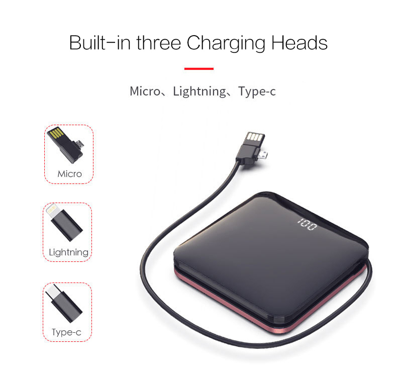 Woyum intelligent portable wireless charger with pen container for phone