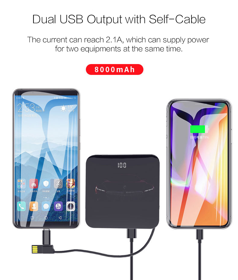 Woyum -Aa Battery Charger | Woyum Wireless Charger Power Bank,7800mah External-13