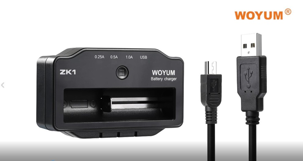 WOYUM Smart Rechargeable Battery Charger for Li-ion/IMR 18650 17670 17500 16340 RCR123 14500 10440 Ni-MH/Ni-Cd AA AAA C Rechargeable Battery