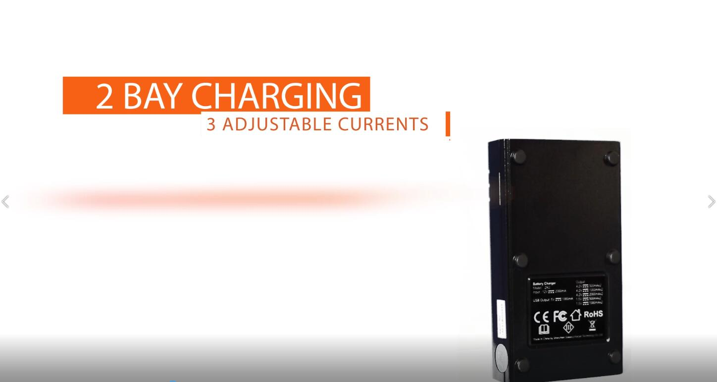 Speedy Battery Charger,Universal Smart Rechargeable Battery Charger for AA AAA C Li-ion IMR 18650 26650 21700 14500 16340 18500 10440 18350 17670 Ni-MH Ni-Cd, USB Cable & LCD Display-Woyum