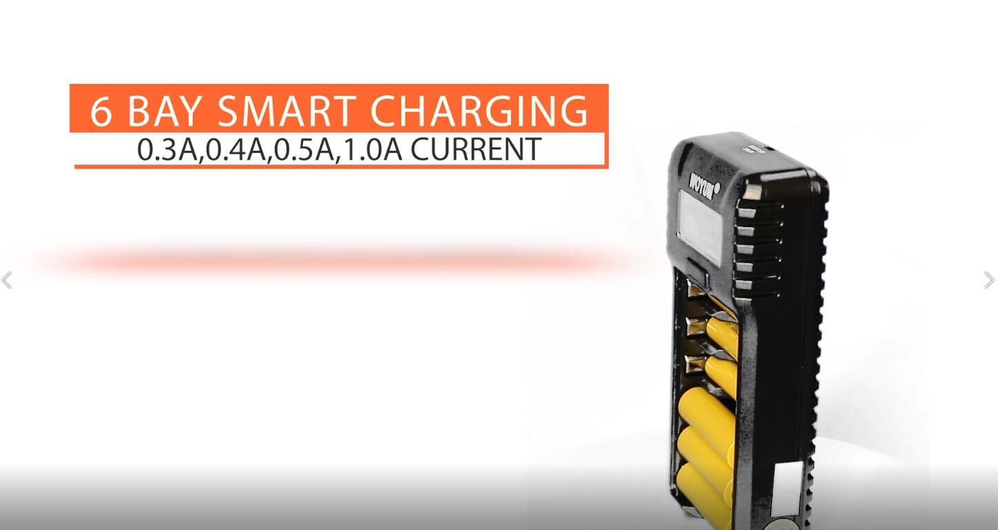 AA AAA Smart Battery Charger(Micro Inport) with Fast Charging Indicator for Ni-MH Ni-CD Batteries