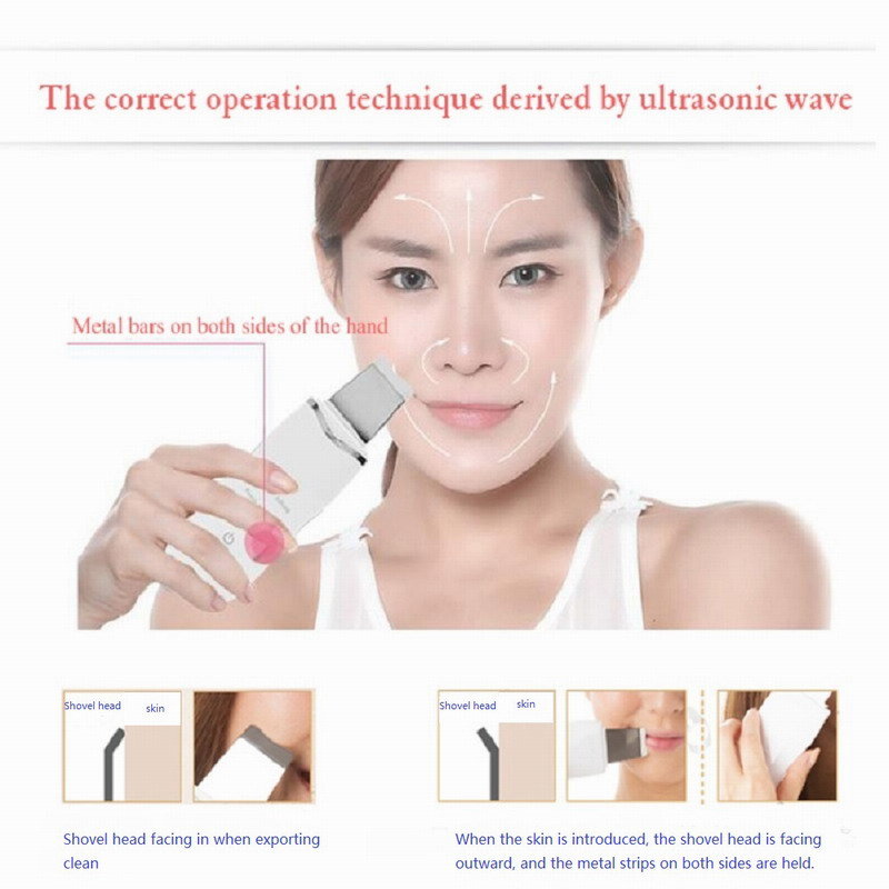 2019 Beauty Care Massager Ultrasonic Facial Skin Scrubber Facial Beauty Instrument
