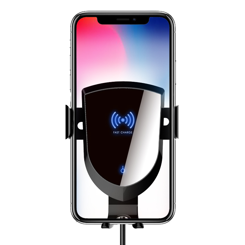 Intelligent Wireless Cell Phone Car Charger Air Vent Phone Holder/Cradle Compatible with iPhone X, XS, XS Max, 8, 8 Plus, Samsung Galaxy Note 9, S9, S9 All Qi Enabled Devices Perfect Driving/Travel Accessory,Wireless Car Loading Brachet