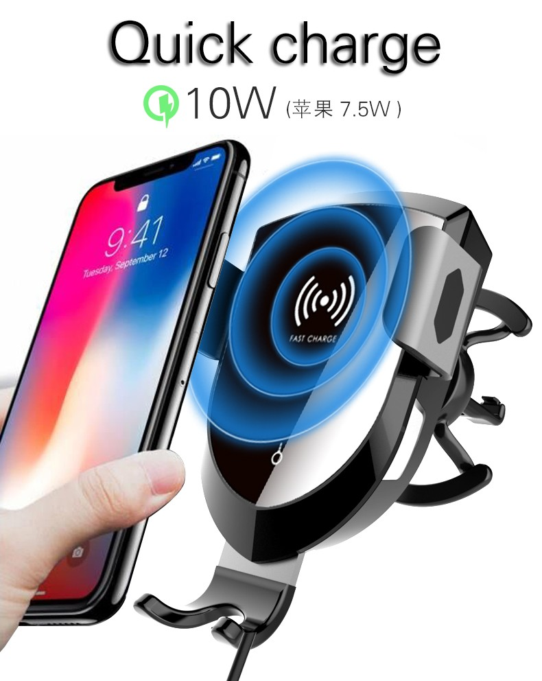 Woyum fast wireless car charger manufacturers for Apple Devices-8