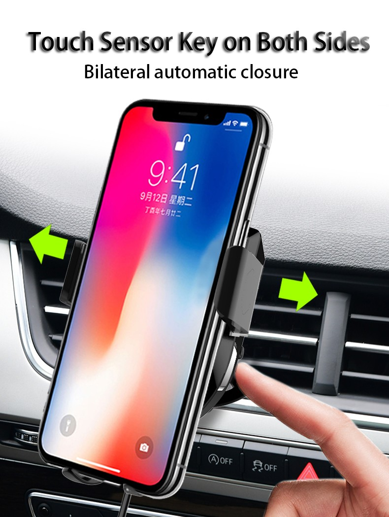 Woyum fast wireless car charger manufacturers for Apple Devices-12