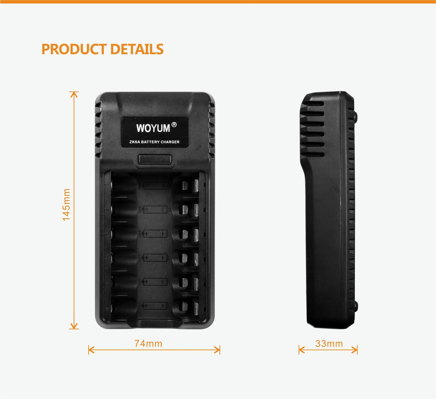 ZK6A AA AAA battery charger