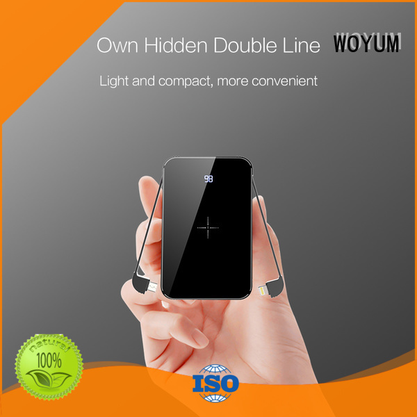 Woyum slim power bank for business for phone