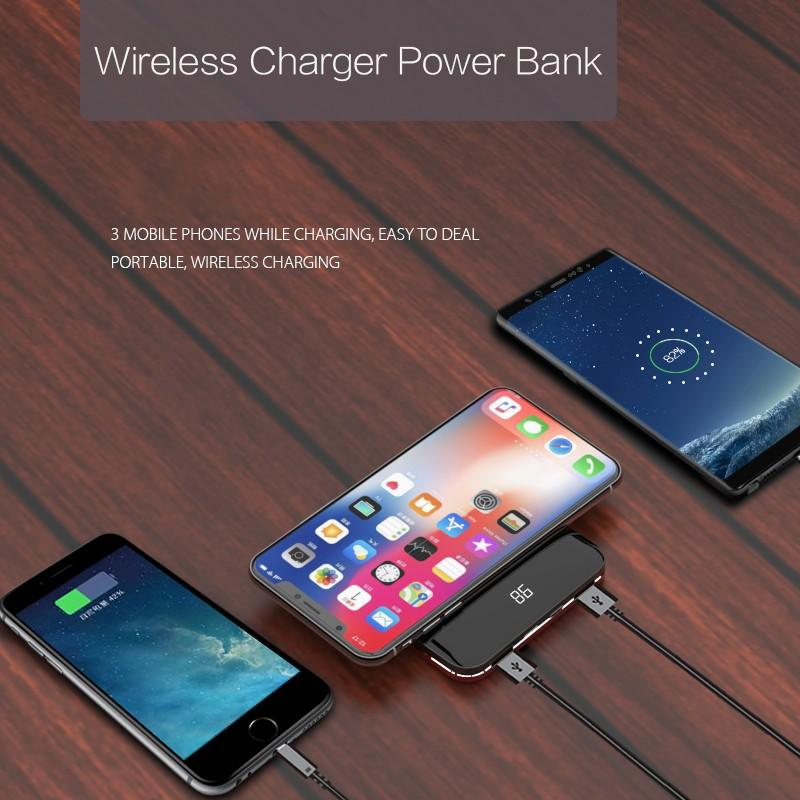 Woyum bamboo wireless charger with pen container for iPhone-2
