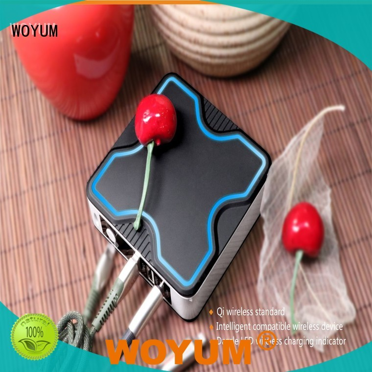 Woyum bamboo wireless charger wholesale for Android