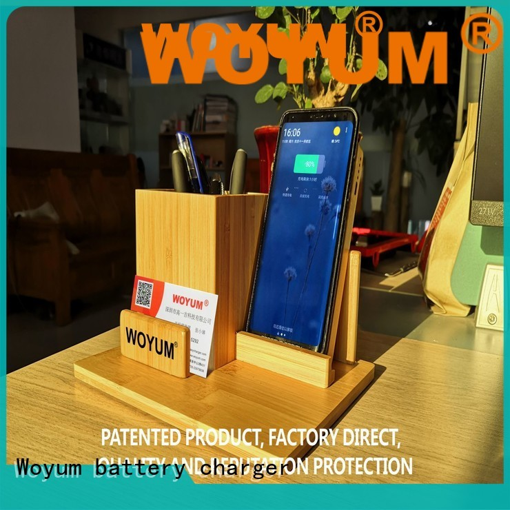 Woyum Top bamboo charger factory for iPhone