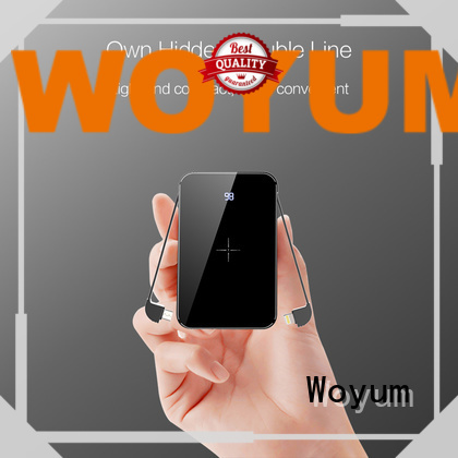Woyum electrical bamboo charger with pen container for iPhone