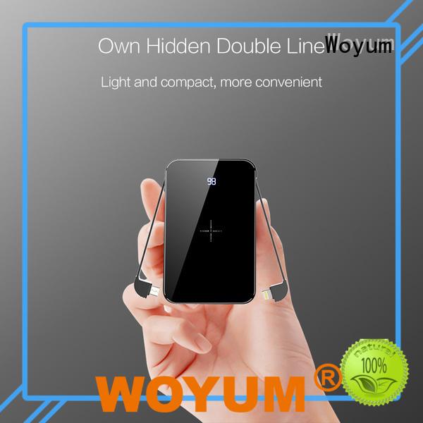 Woyum Custom slim power bank factory for iPhone